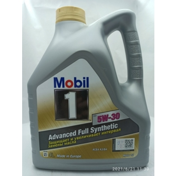 Моторное масло Mobil 1 NEW LIFE 5W-30, 4л